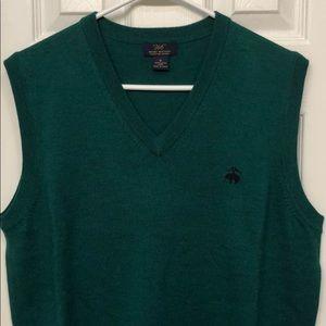 Brooks Brothers Medium Green Wool Sweater Vest